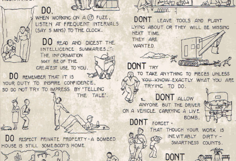 Dos and Don'ts for Bomb Disposal Sappers – A H.M. Stationery Office publication during WW2
